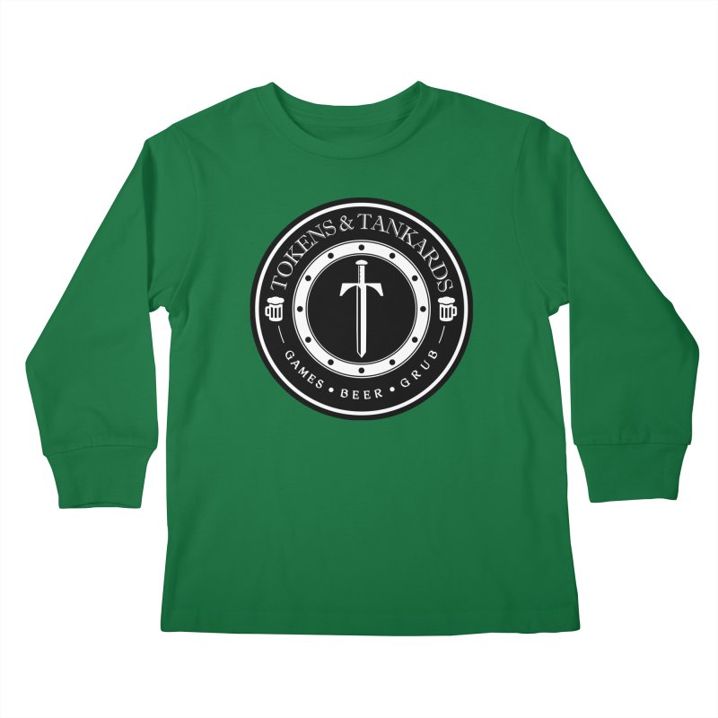 White Banded Token Kids Longsleeve T-Shirt by Tokens & Tankards