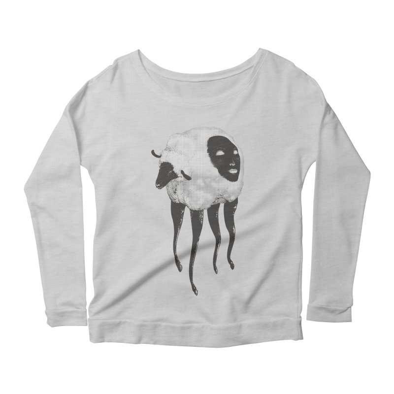 The Dark Within Women's Longsleeve Scoopneck  by tolagunestro's Artist Shop