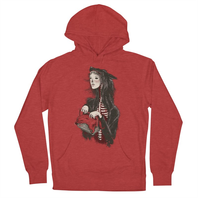 Red Women's Pullover Hoody by tolagunestro's Artist Shop