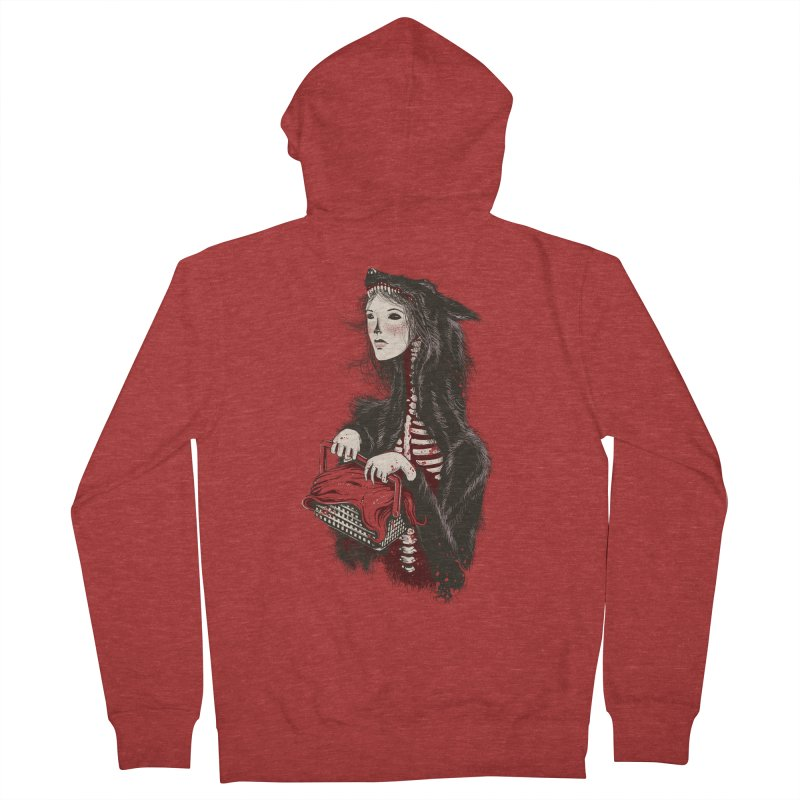 Red Women's Zip-Up Hoody by tolagunestro's Artist Shop