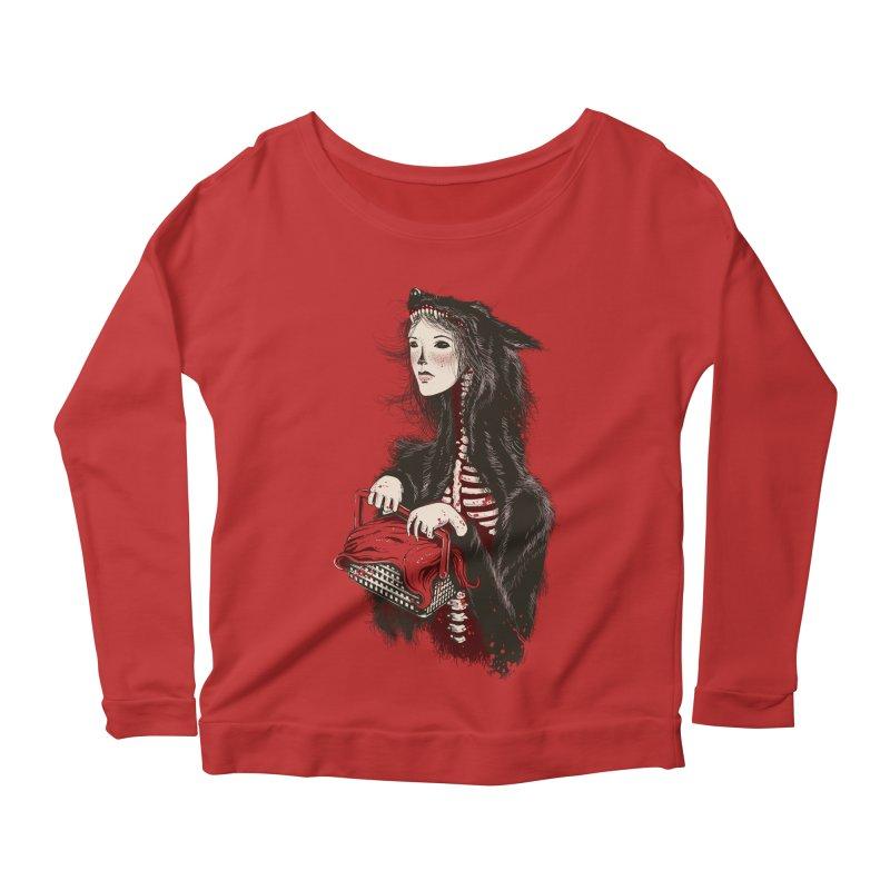 Red Women's Longsleeve Scoopneck  by tolagunestro's Artist Shop