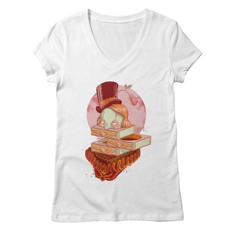 Faux Fond Women's V-Neck by tolagunestro's Artist Shop