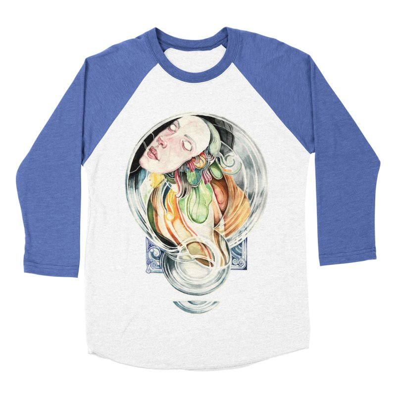 The Hourglass Men's Baseball Triblend T-Shirt by tolagunestro's Artist Shop