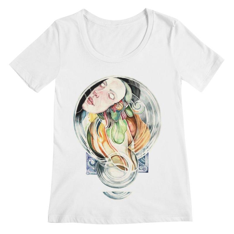 The Hourglass Women's Scoopneck by tolagunestro's Artist Shop