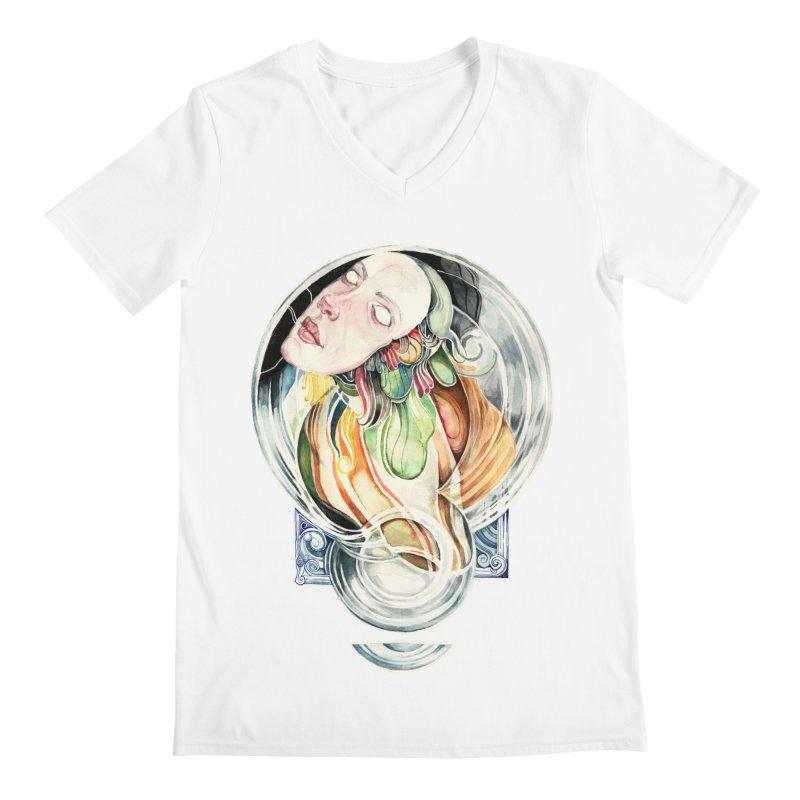 The Hourglass Men's V-Neck by tolagunestro's Artist Shop