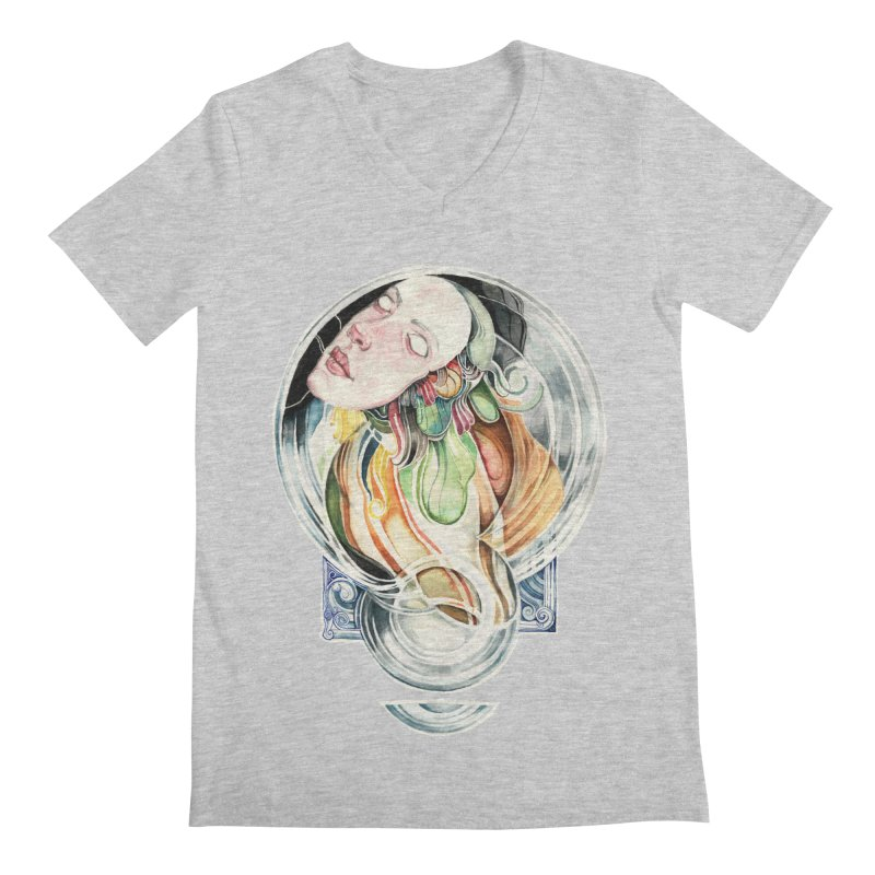 The Hourglass Men's V-Neck by tolagunestro's Artist Shop
