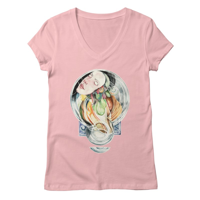The Hourglass Women's V-Neck by tolagunestro's Artist Shop