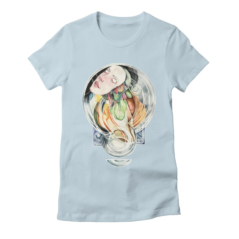 The Hourglass Women's Fitted T-Shirt by tolagunestro's Artist Shop