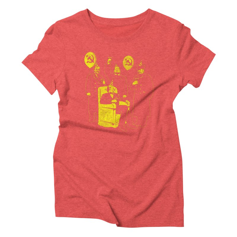 The Communist Party III: The Communing Women's Triblend T-shirt by Tom Burns