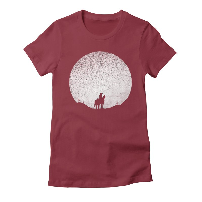 The Rising Sunset Women's Fitted T-Shirt by Tom Burns