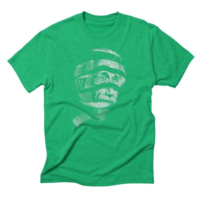 E=MC Escher Men's Triblend T-shirt by Tom Burns