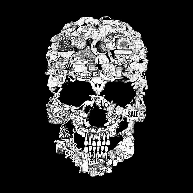 Clip Art Skull by Tom Burns