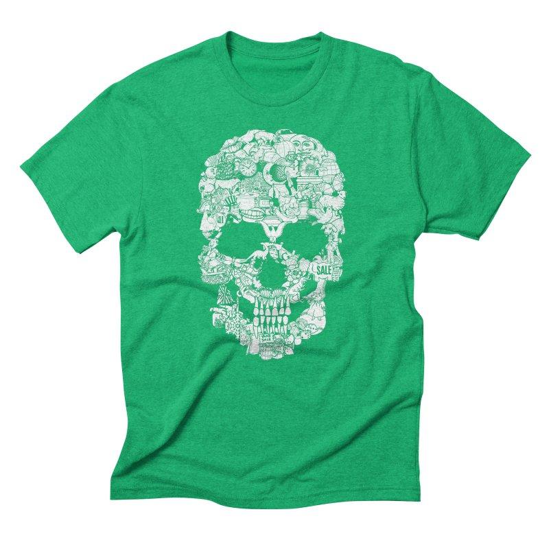 Clip Art Skull Men's Triblend T-shirt by Tom Burns