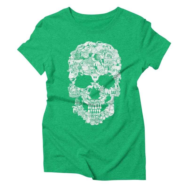 Clip Art Skull Women's Triblend T-shirt by Tom Burns