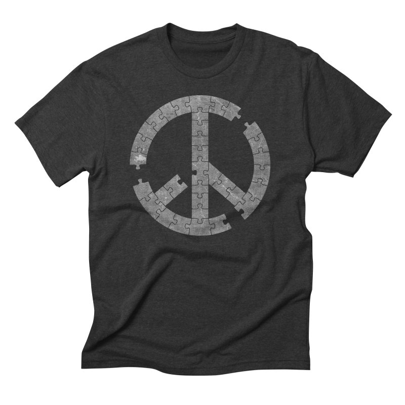 Puzzle Piece Men's Triblend T-shirt by Tom Burns