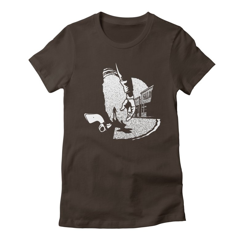 Showdown Women's Fitted T-Shirt by Tom Burns