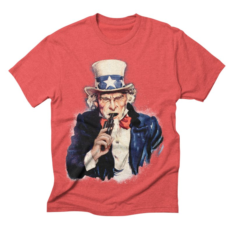 Uncle Sham Men's Triblend T-shirt by Tom Burns