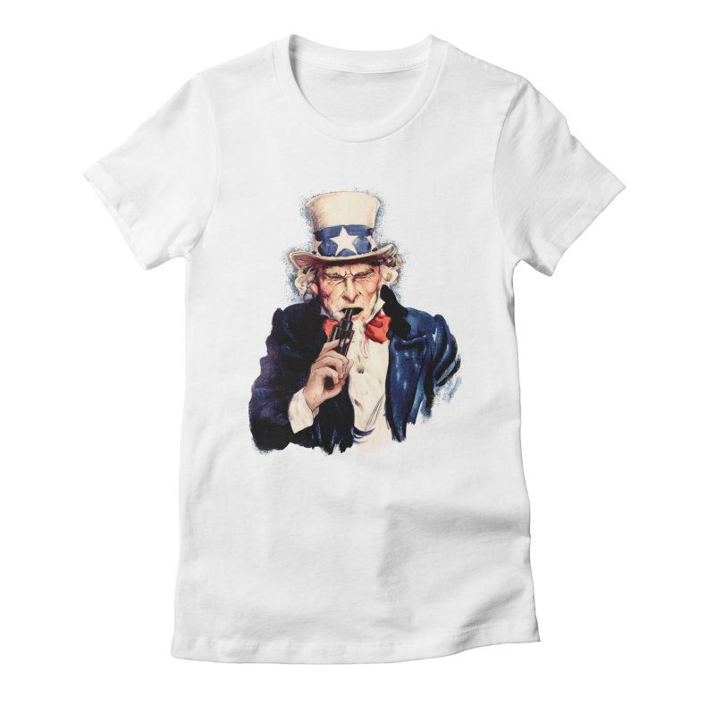 Uncle Sham Women's Fitted T-Shirt by Tom Burns