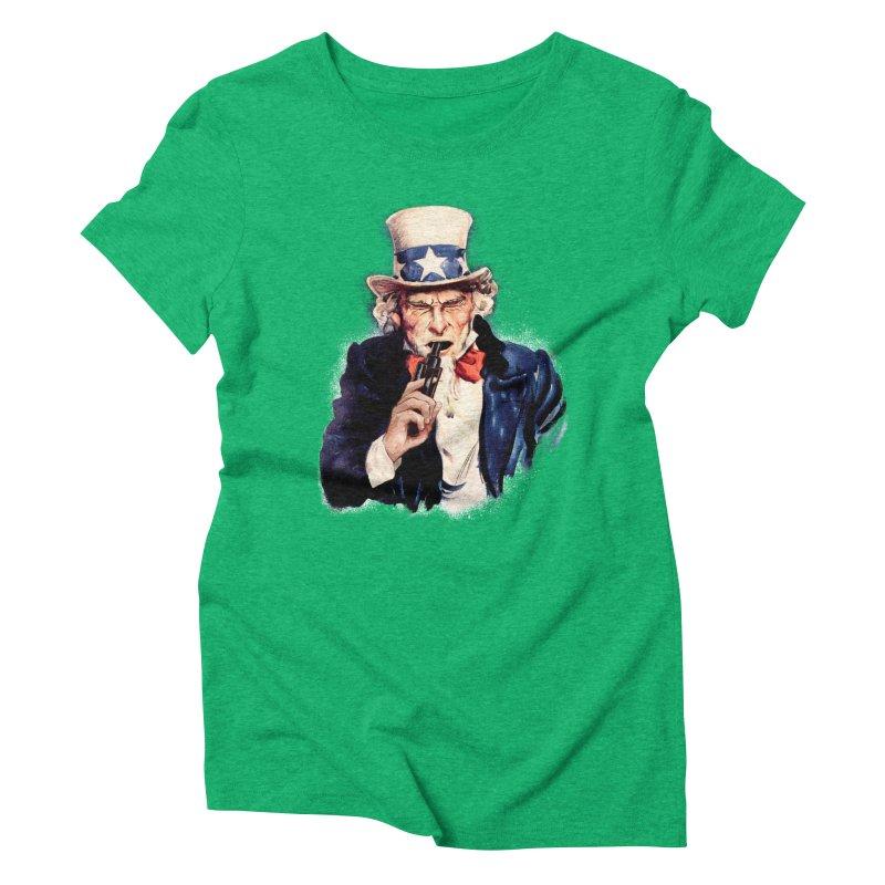 Uncle Sham Women's Triblend T-shirt by Tom Burns