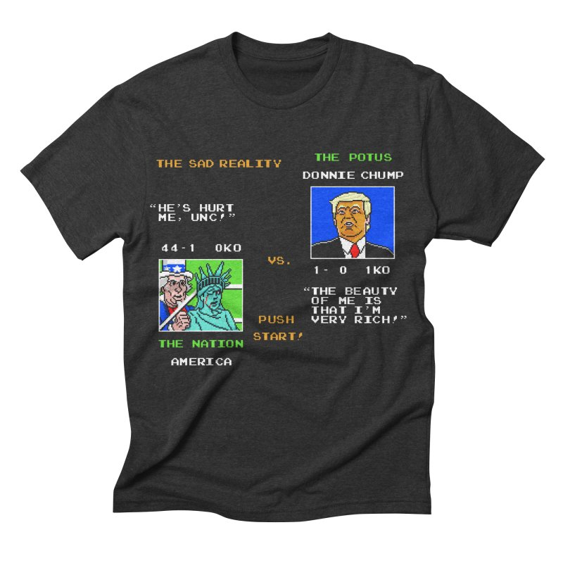 America Got Punched-Out Men's Triblend T-shirt by Tom Burns