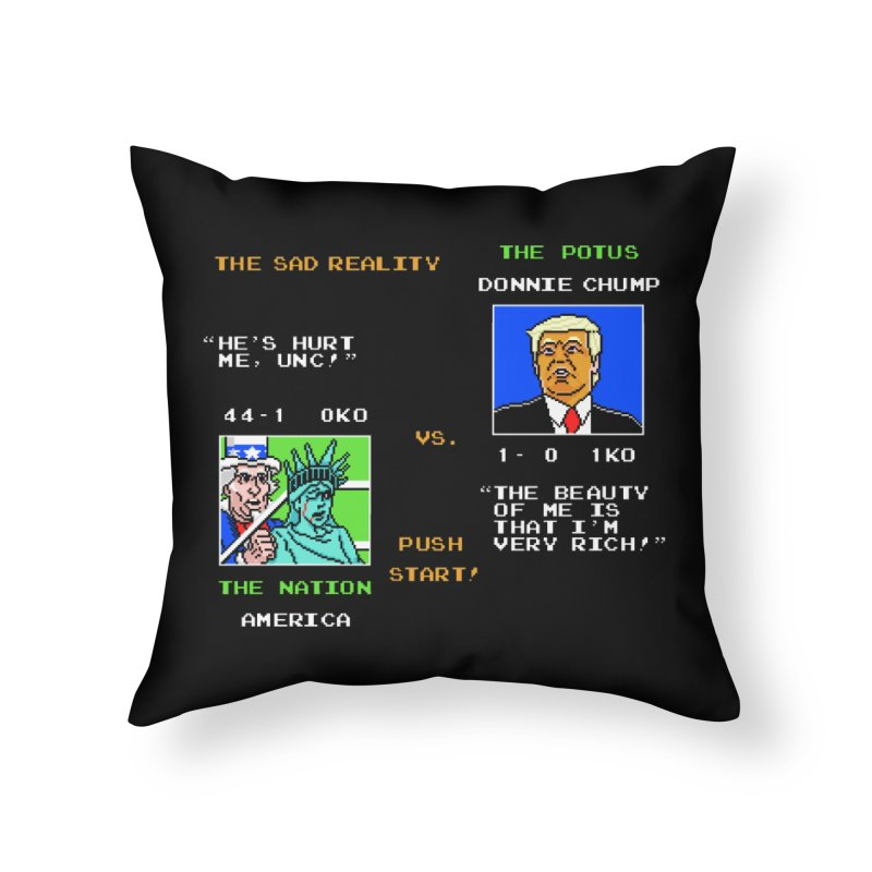 America Got Punched-Out Home Throw Pillow by Tom Burns