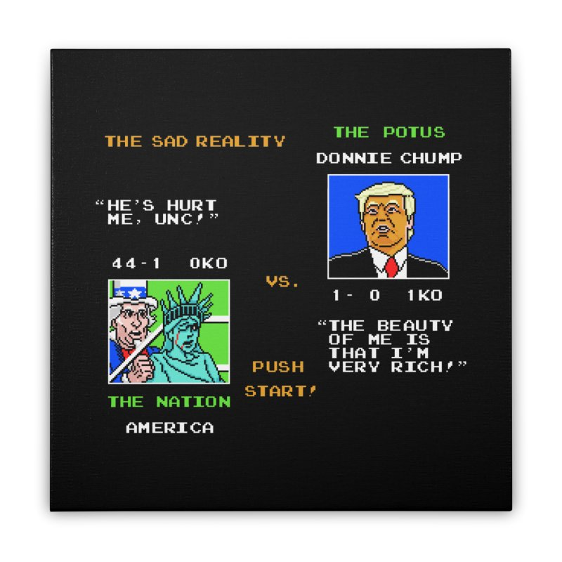 America Got Punched-Out Home Stretched Canvas by Tom Burns