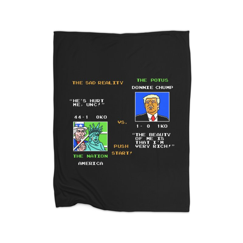 America Got Punched-Out Home Blanket by Tom Burns