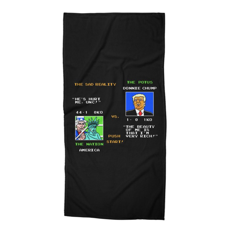 America Got Punched-Out Accessories Beach Towel by Tom Burns