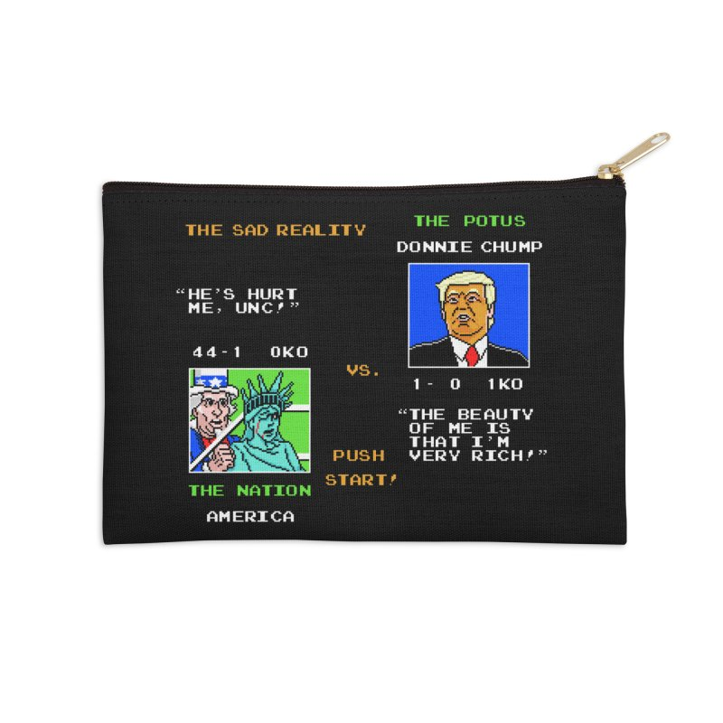 America Got Punched-Out Accessories Zip Pouch by Tom Burns