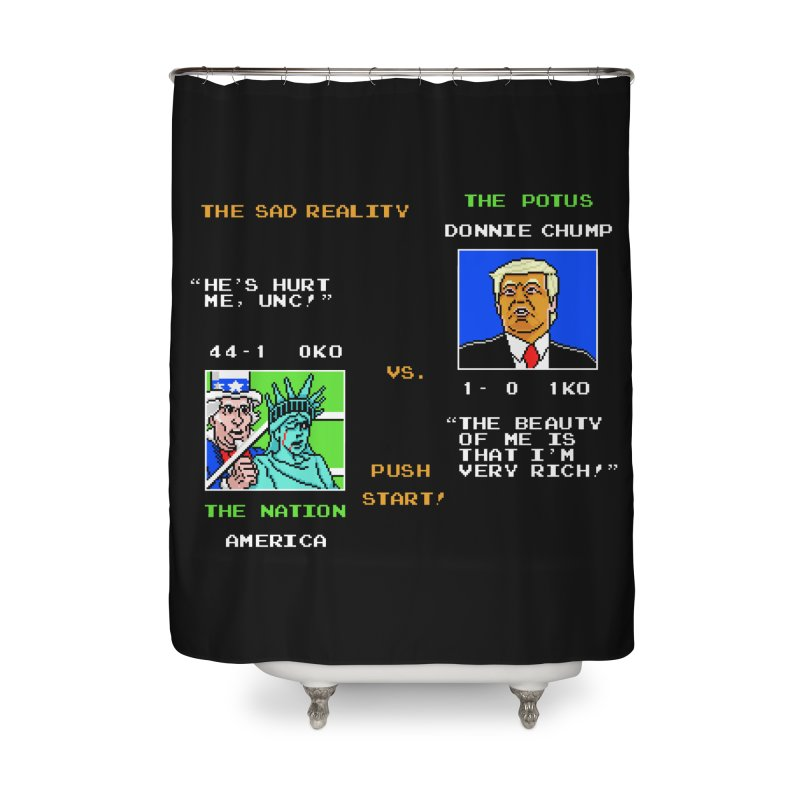 America Got Punched-Out Home Shower Curtain by Tom Burns