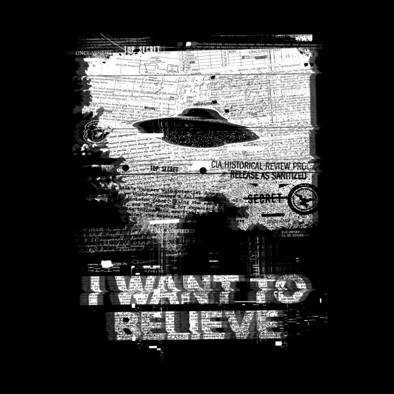 I Want to Believe Home Rug by Tom Burns