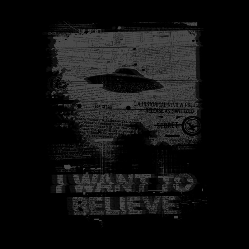 I Want to Believe Women's Scoop Neck by Tom Burns