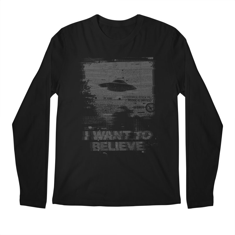 I Want to Believe Men's Longsleeve T-Shirt by Tom Burns
