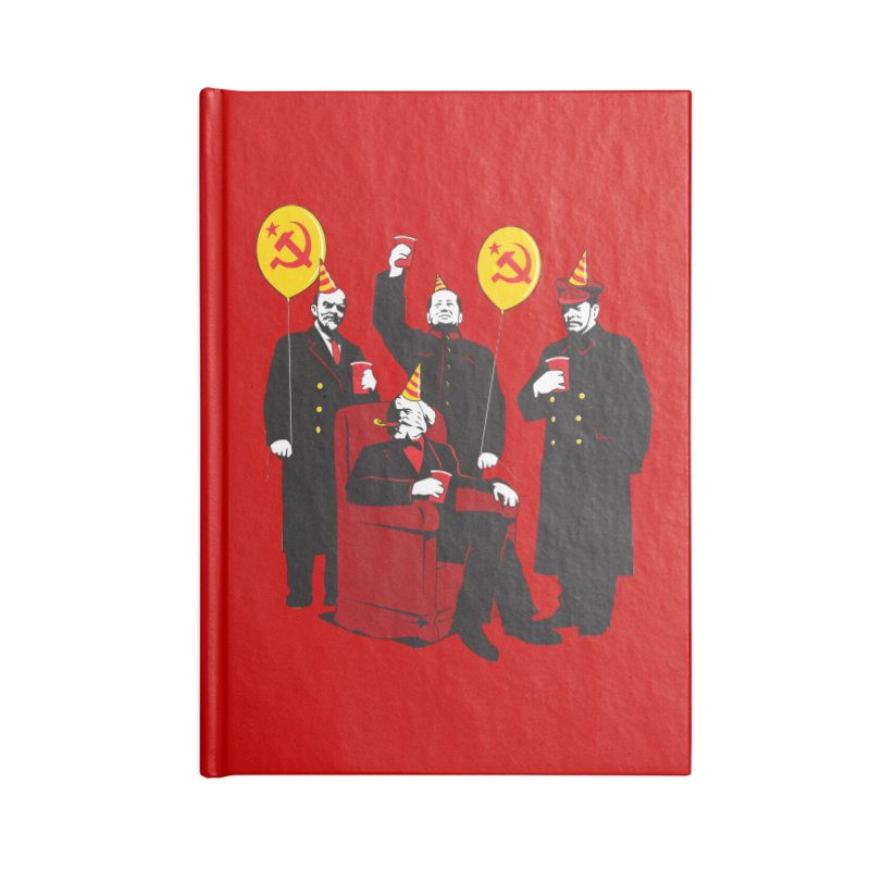 Communist Party 2 in Blank Journal Notebook by Tom Burns
