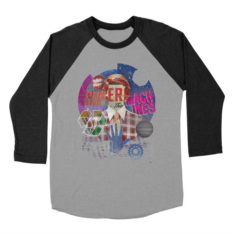 Super Machines Men's Baseball Triblend T-Shirt by Tom Burns