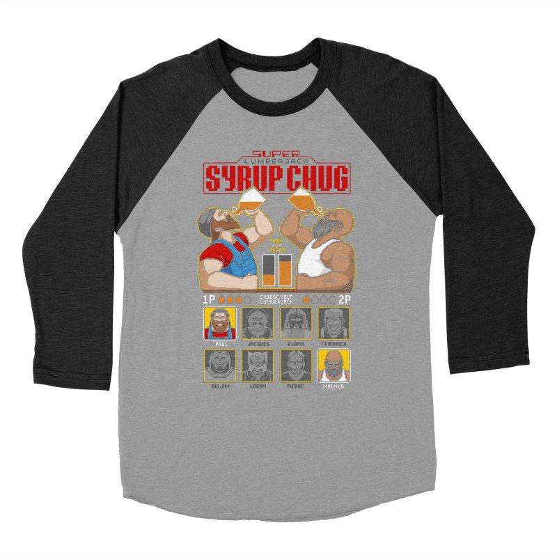 Super Lumberjack Syrup Chug Women's Baseball Triblend T-Shirt by Tom Burns