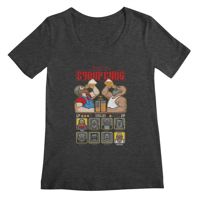 Super Lumberjack Syrup Chug Women's Scoopneck by Tom Burns