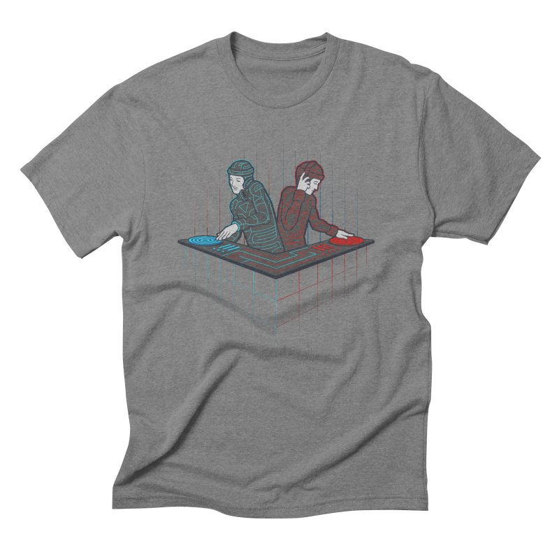 Techno-tron-ic Men's Triblend T-Shirt by Tom Burns