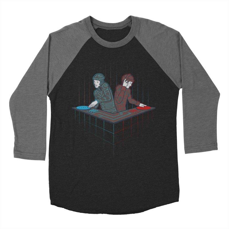 Techno-tron-ic Men's Baseball Triblend Longsleeve T-Shirt by Tom Burns