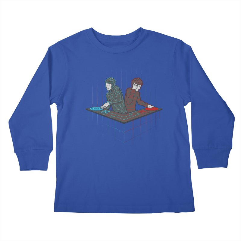 Techno-tron-ic Kids Longsleeve T-Shirt by Tom Burns