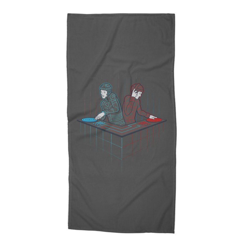 Techno-tron-ic Accessories Beach Towel by Tom Burns