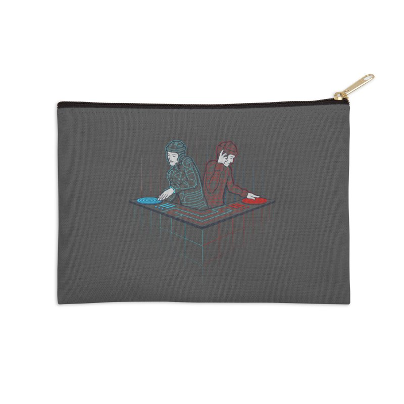 Techno-tron-ic Accessories Zip Pouch by Tom Burns