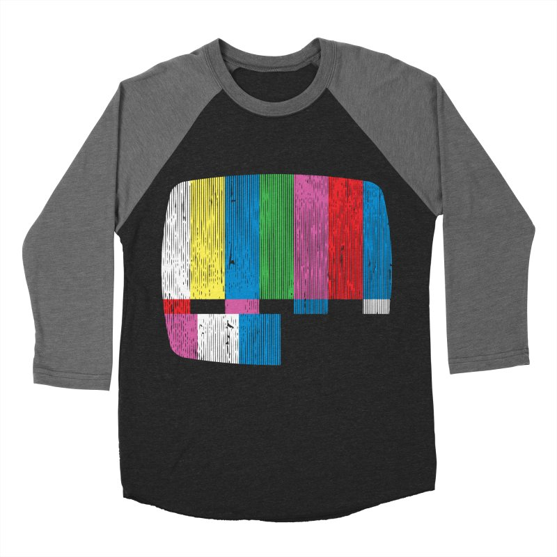 Test Pattern Men's Baseball Triblend Longsleeve T-Shirt by Tom Burns