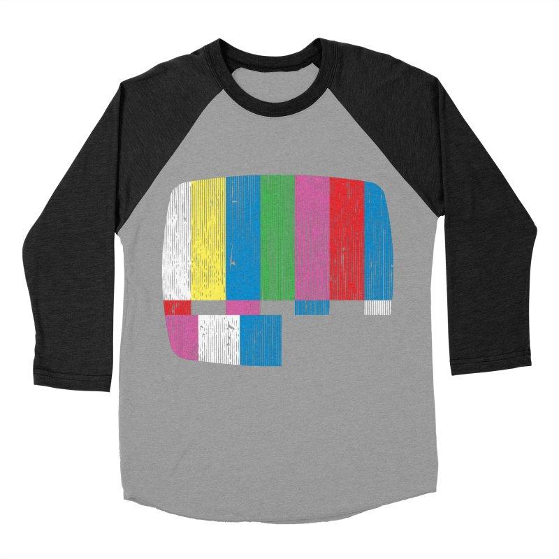 Test Pattern Men's Baseball Triblend T-Shirt by Tom Burns
