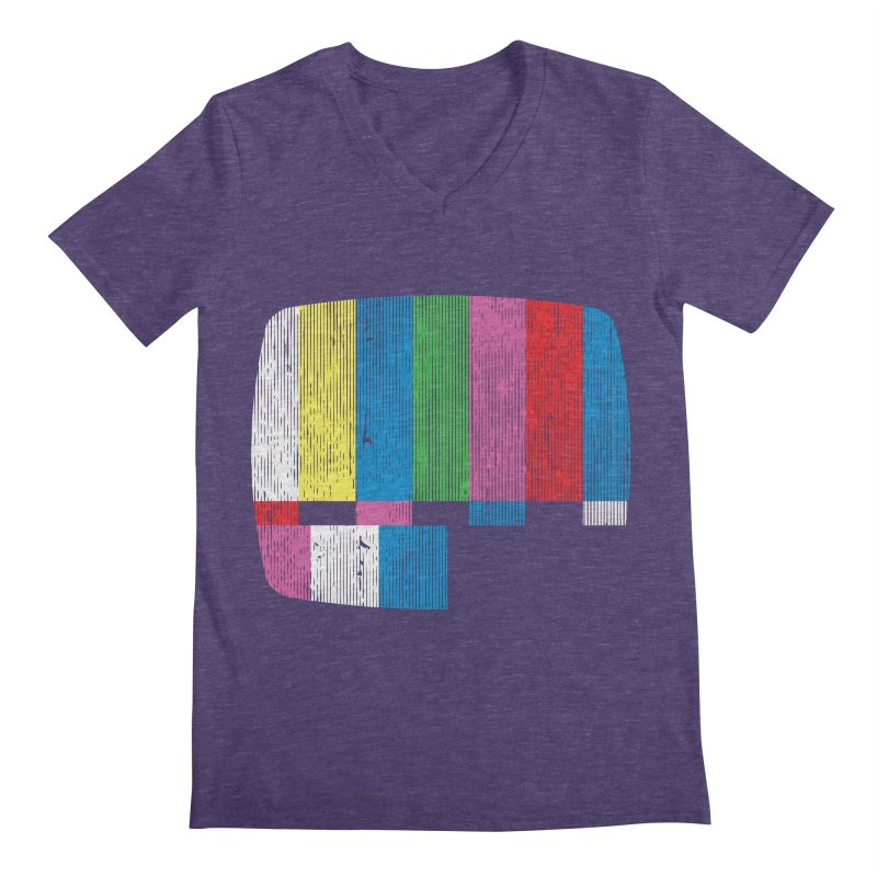Test Pattern Men's V-Neck by Tom Burns
