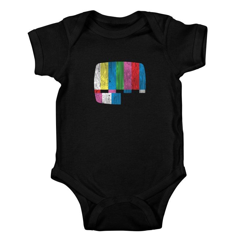 Test Pattern Kids Baby Bodysuit by Tom Burns