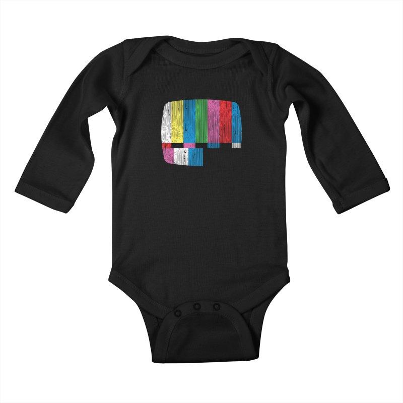 Test Pattern Kids Baby Longsleeve Bodysuit by Tom Burns