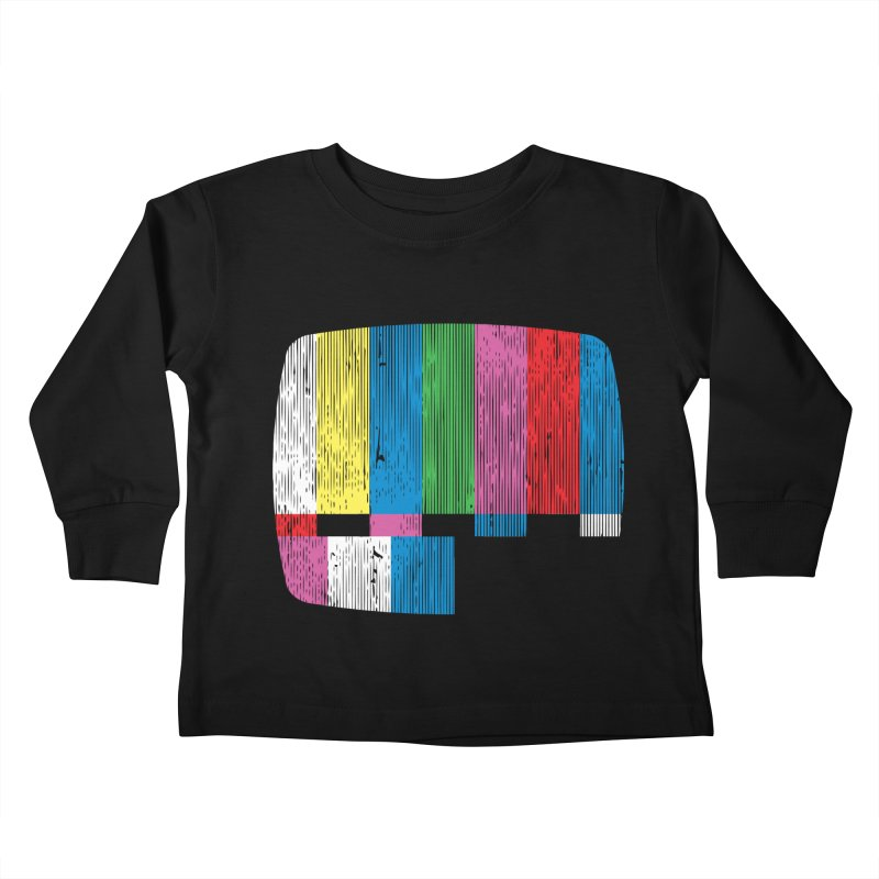 Test Pattern Kids Toddler Longsleeve T-Shirt by Tom Burns