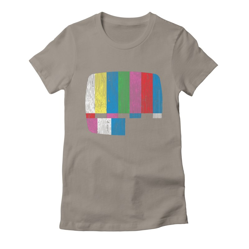 Test Pattern Women's Fitted T-Shirt by Tom Burns