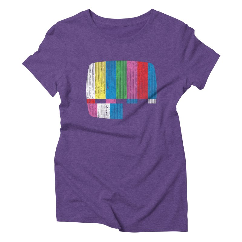 Test Pattern Women's Triblend T-Shirt by Tom Burns